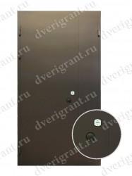 Двустворчатая металлическая дверь 13-003