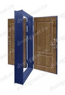 Двойная металлическая дверь - модель - 17-027