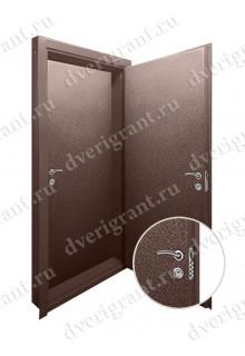 Двойная металлическая дверь - модель - 17-048