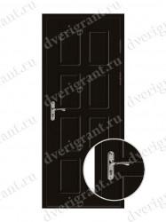 Металлическая дверь для дачи - 18-005