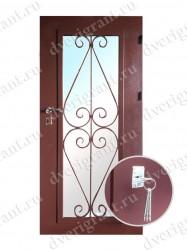 Металлическая дверь для дачи - 18-006