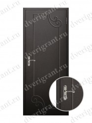 Входная металлическая дверь эконом класса - 21-12