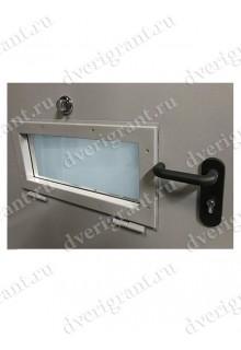 Металлическая дверь с окном  - 08-007