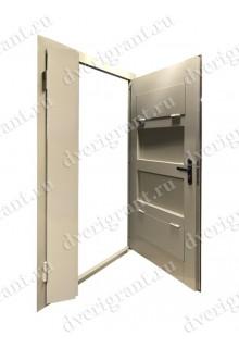 Металлическая дверь с вентиляционной решеткой - 13-009