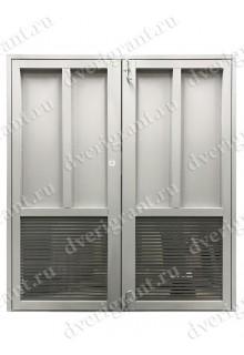 Металлическая дверь с вентиляционной решеткой - 13-018