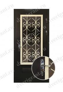 Металлическая дверь с вентиляционной решеткой - 13-019