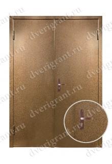 Двустворчатая металлическая дверь 14-021