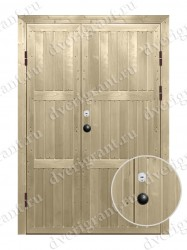 Дверь с отделкой вагонка - модель 18-020