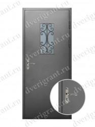 Металлическая дверь для дачи - 18-031
