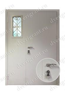Двустворчатая металлическая дверь 22-002