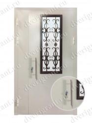 Двустворчатая металлическая дверь 22-005