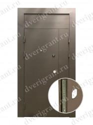 Двустворчатая металлическая дверь 22-006
