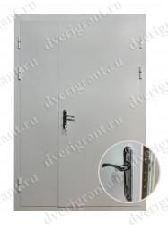 Двустворчатая металлическая дверь 22-024