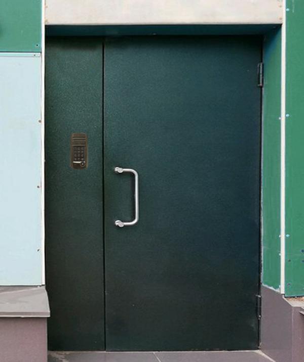 металлические двери для подъезда недорогие двухстворчатые
